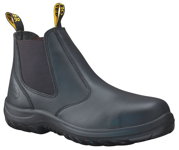 Boot - Elastic Sided Safety Oliver Full Grain Leather DDPU Sole Water Resistant Black - 13