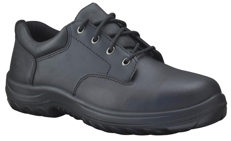Shoe - Lace Up Safety Oliver Full Grain Leather Derby Lined DDPU Sole Water Resistant Black - 13