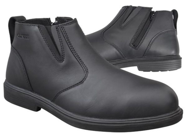 Boot - Zip Side Safety Oliver Executive Soft Touch Full Grain Leather DDPU Sole Water Resistant Black - 13