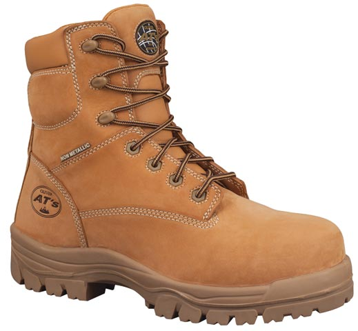 Boot - Lace Up Safety 150mm Oliver AT45 Nubuck Leather Composite Cap PU/TPU Sole Water Resistant Wheat - 14