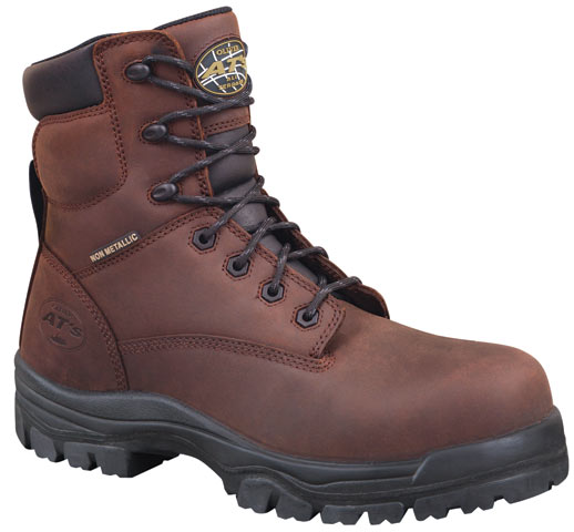 Boot - Lace Up Safety 150mm Oliver AT45 Full Grain Leather Composite Toe PU/TPU Sole Water Resistant Brown - 14