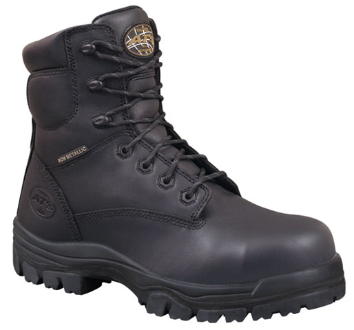 Boot - Lace Up Safety 150mm Oliver AT45 Full Grain Leather Composite Toe PU/TPU Sole Water Resistant Black - 14