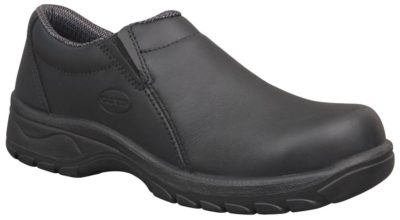 Shoe - Slip On Womens Safety Oliver Full Grain Leather Lined DD PU/Rubber Sole Water Resistant Black - 42