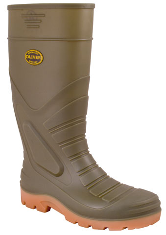 Gumboot - Safety Oliver 400mm Knee Boot  PVC/Nirtile Steel Toe/Midsole & Metatarsal Grey - 13