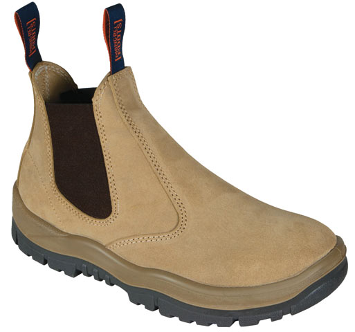 Boot - Safety Mongrel 240040 Suede Elastic Sided DD TPU Sole Wheat - 14