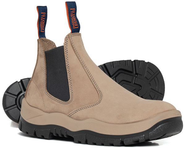 Boot - Safety Mongrel 240060 Elastic Side TPU/PU Sole Nubuck Leather Stone - 14