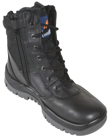 Boot - Safety Mongrel Full Grain High Leg Zip Side DD TPU Sole Black - 14