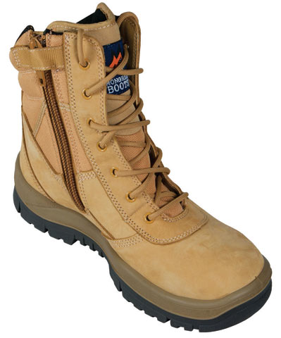 Boot - Safety Mongrel High Leg Zip Side DD TPU Sole Wheat - 14