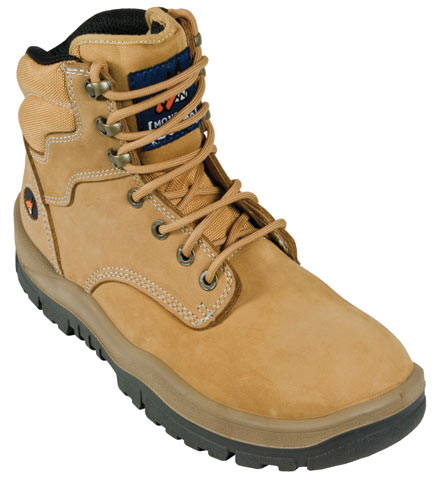 Boot - Safety Mongrel Ankle Lace-Up Padded DD TPU Sole Wheat - 14