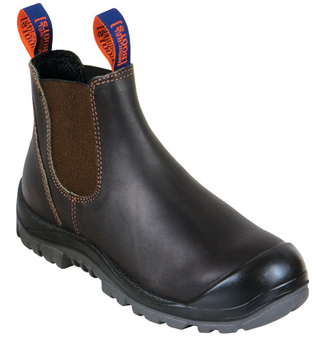 Boot - Safety Mongrel Kip Elastic Sided c/w Scuff Cap PU/Rubber Sole Claret - 13