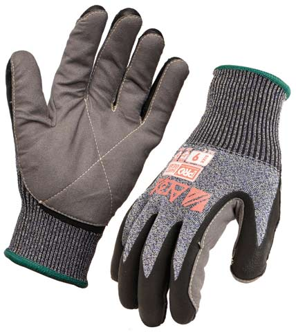 Glove - Foam Nitrile ARAX Heavy Duty Liner ProChoice Synthetic Leather Palm Cut Resistant (Level D) - 11