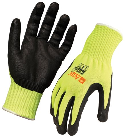 Glove - Nitrile Dip ARAX GOLD Liner ProChoice NA (REFER TO OTHER SIZES) HI VIS Yellow Cut Resistant (D) - 12