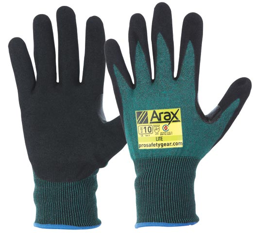 Glove - Nitrile Sand Dip ARAX Green Liner ProChoice Cut Resistant (Level C) - 11
