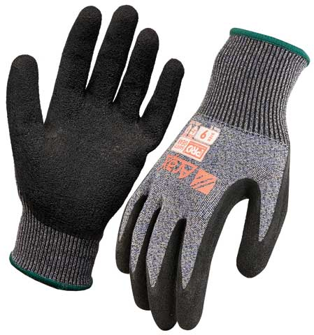 Glove - Latex Crinkle Dip ARAX 13G Liner ProChoice Dry Grip Cut Resistant (Level C) - 11