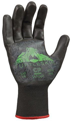 Glove - TurtleSkin CP Neon Wrap 430mm Cut & Puncture Resistant Palm  - XL