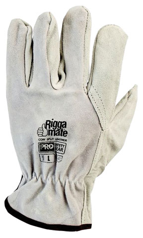 Glove - Leather Rigger ProChoice Riggamate Cowsplit Grey Chrome - 2XL