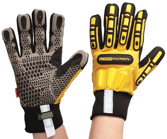 Glove - Leather Synthetic Pro-Fit Razorback Oil N Gas - 3XL