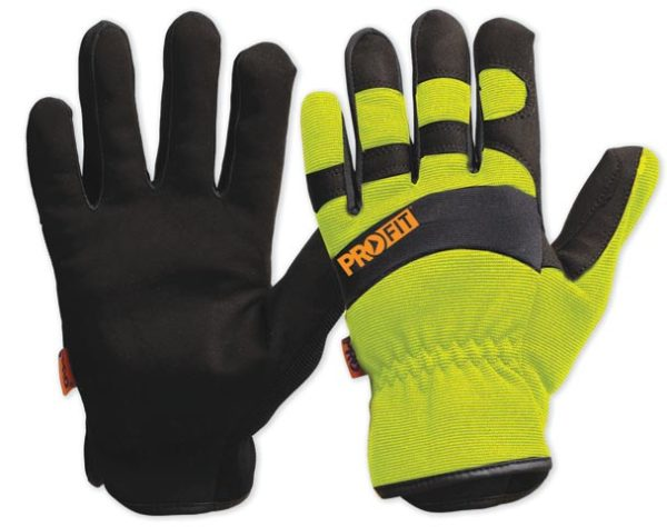 Glove - Leather Synthetic ProFit Riggamate Hi Vis Yellow - 11