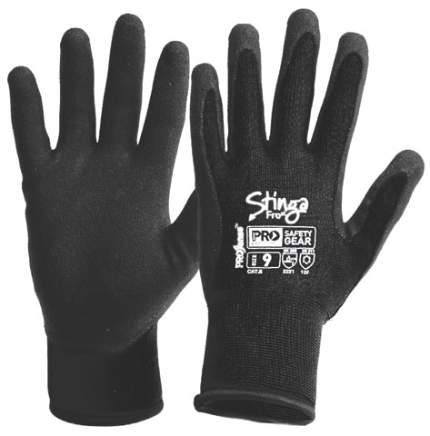 Glove - PVC Foam ProSense StingaFrost Coated Nylon Black - 11