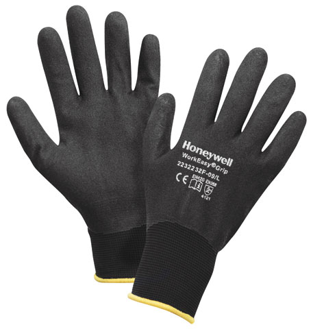 Glove- Nitrile Sandy Full Dip Honeywell WorkEasy Grip Nylon Black - 11