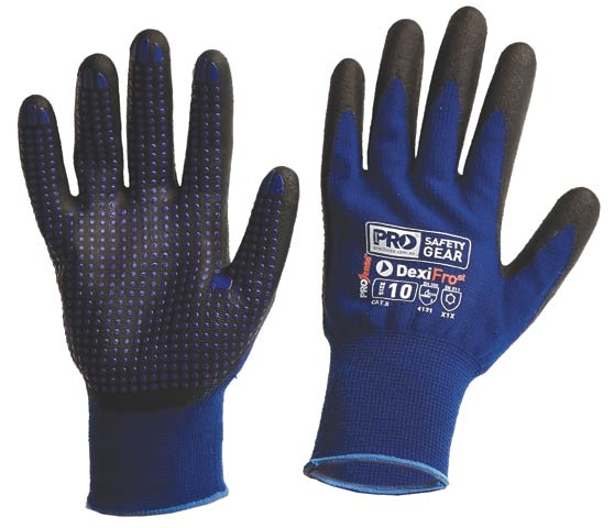 Glove - Nitrile ProSense DexiFrost Coated Nylon & Lycra Mix Winter Liner  - 11