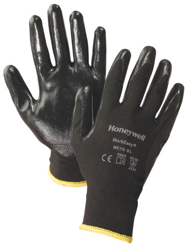 Glove - Nitrile Palm Dip Honeywell WorkEasy 110 Polyester Black - 2XL