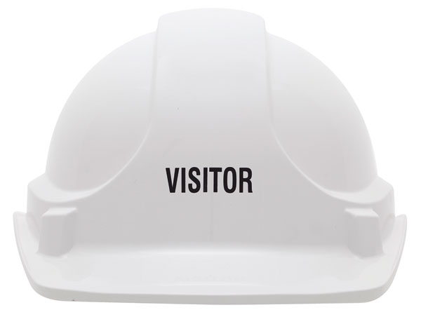Cap - Safety ABS 3M TA560 Non-Vented (Type 1) Terylene Headgear Visitor - White