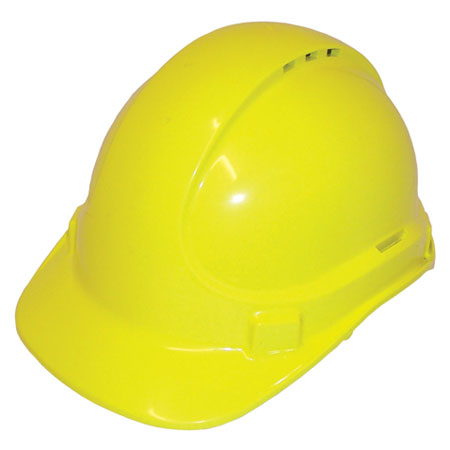 Cap - Safety Polycarbonate 3M TA590 Vented (Type 2) Terylene Headgear - Fluoro Yellow