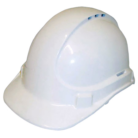 Cap - Safety Polycarbonate 3M TA590 Vented (Type 2) Terylene Headgear - White