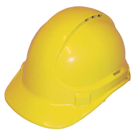 Cap - Safety Polycarbonate 3M TA590 Vented (Type 2) Terylene Headgear - Yellow