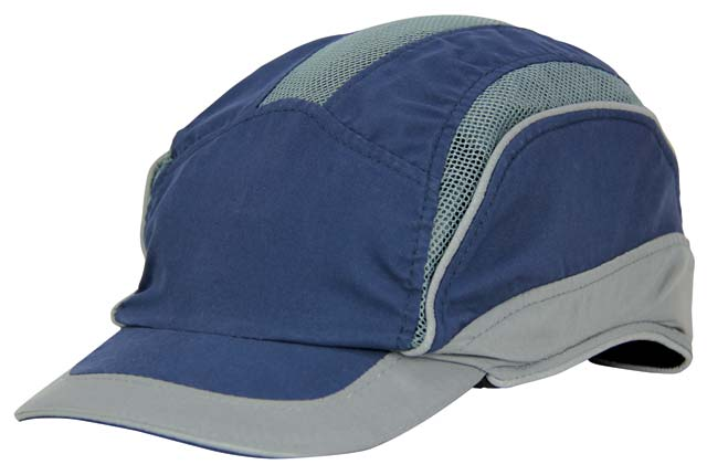 Bump Cap - Microfibre 3M HC23 First Base 3 Elite c/w Reduced Peak - Blue/Grey