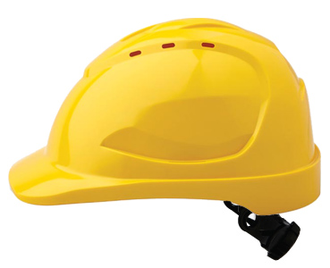 Cap - Safety ABS ProChoice V9 Vented Ratchet Headgear - Yellow