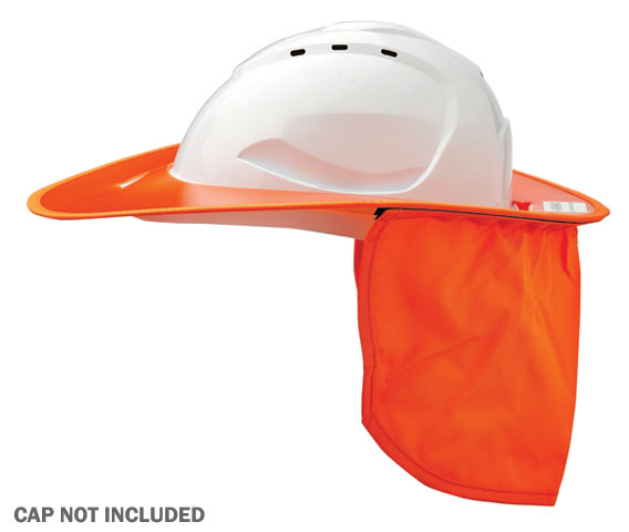 Brim - Plastic ProChoice Shade Halo c/w Neck Flap for HCV9 Cap  - Fluoro Orange