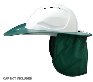 Brim - Plastic ProChoice Shade Halo c/w Neck Flap for HCV9 Cap  - Green