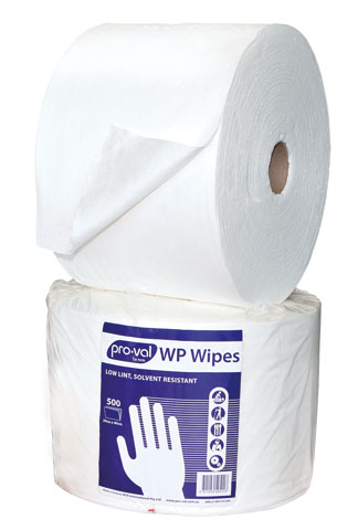 Wipes - Pro-Val WP Solvent Wipe 40cm x 29cm Perforated Roll - White