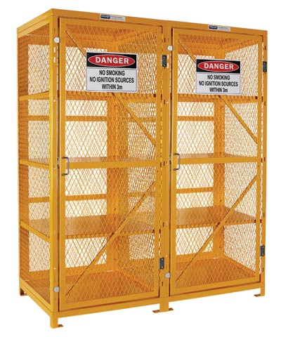 Locker - Aerosol Storage Cage Pratt 1920mm (H) x 780mm (W) x 1520mm (D) Flat Pack - 800 Can Capacity