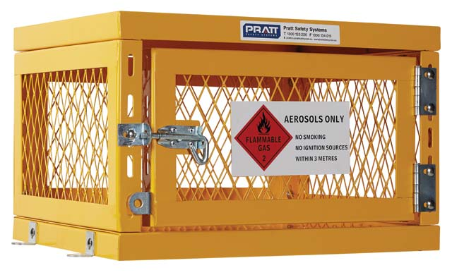 Locker - Aerosol Storage Cage Pratt 360mm (H) x 560mm (W) x 490mm (D) Flat Pack - 42 Can Capacity