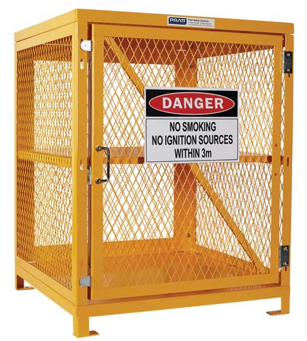 Locker - Aerosol Storage Cage Pratt 660mm (H) x 780mm (W) x 760mm (D) Flat Pack - 84 Can Capacity