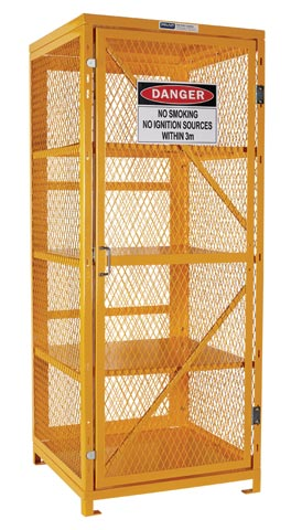 Locker - Aerosol Storage Cage Pratt 1920mm (H) x 780mm (W) x 760mm (D) Flat Pack - 400 Can Capacity