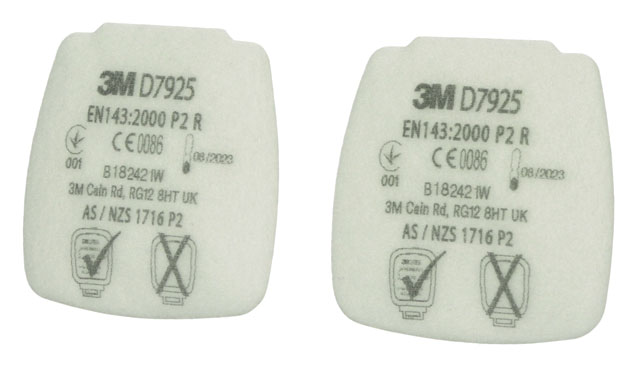 Filter - P2 3M Secure Click D7925 Particulate