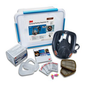 Respirator Kit - Full Face Spray Painting 3M 6000 Series c/w A1P2 Filters - M