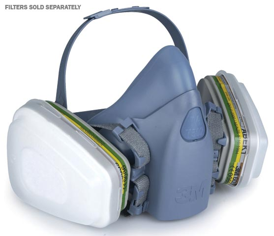 Respirator - Half Face 3M 7500 Series Silicone 7501 Twin Filter - S