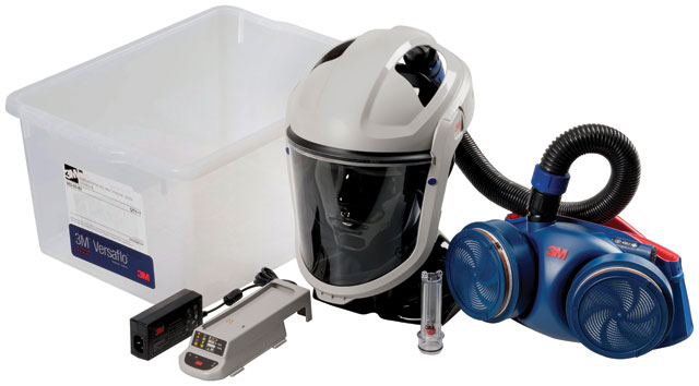 Respirator Kit - Faceshield PAPR 3M Versaflo M-206 c/w Jupiter Turbo/Hose/Battery/Charger (filters not included)