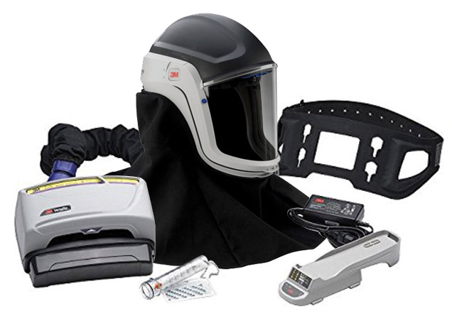 Respirator Kit - Faceshield 3M Versaflo TR-600 PAPR c/w M-407FR Helmet/Battery/Charger/Belt/P3 Filter/PreFilter