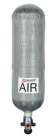 Cylinder - 6.8L 300 Bar Carbon Fibre 1118245T c/w T Valve for 3M Scott Sigma 2 SCBA Unit