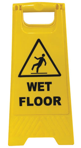 Floor Stand - A Frame Sign 'Wet Floor' NA - (REFER TO PALL MALL SFS001:YL)  - Yellow