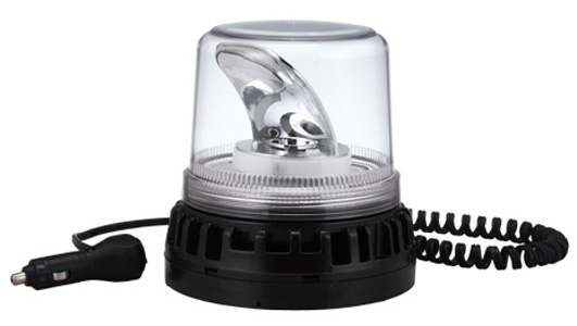 Beacon - LED Large Rotating ACOT500 Titan Magnetic Base 12-24V DC - Clear