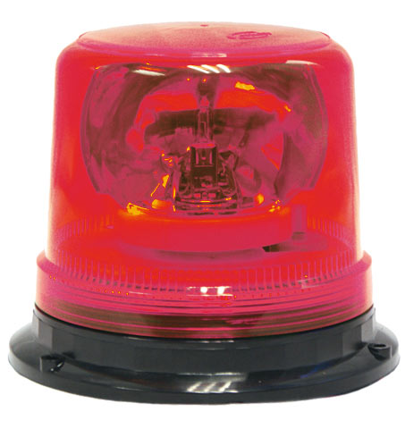 Beacon - Rotating ACOT500 Magnetic Base c/w Power Adaptor H1 12V 55W - Red