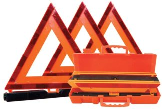 Triangle - Roadside Breakdown VisionSafe Reflective 440mm Folds Flat (set of 3) c/w Case