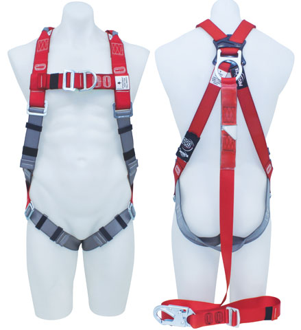 Harness - Riggers 3M Protecta P100 AB126-36XL c/w Front/Rear D Rings & Retrieval Points  Incl. Integral Adjustable Lanyard c/w Snap Hook - XL
